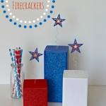4 x 4 Glitter Firecrackers