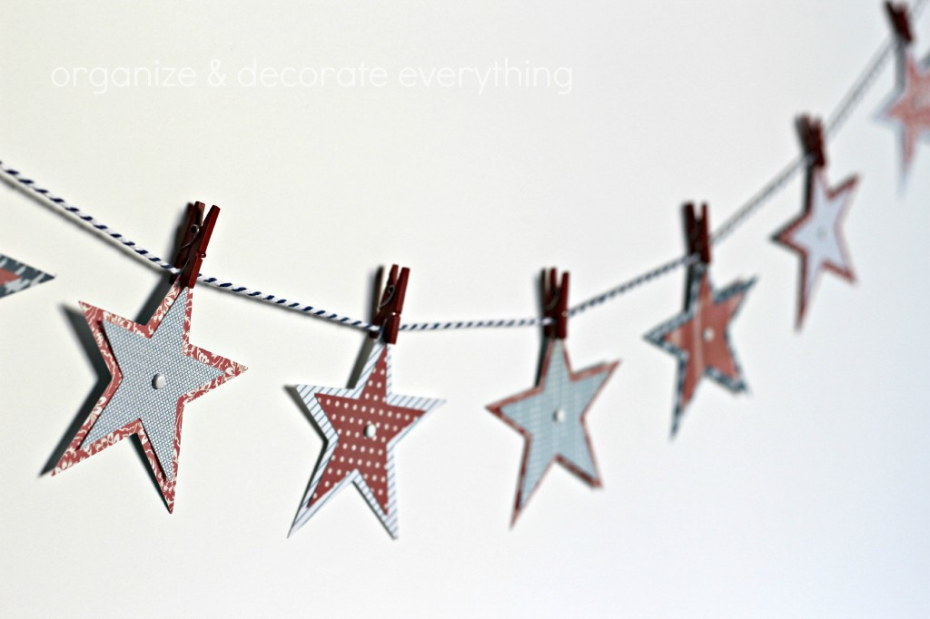 Patriotic Star Garland 6.1