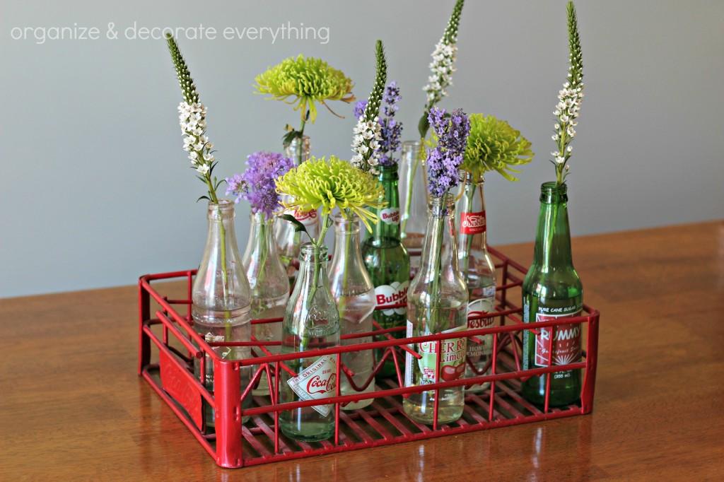 Pop bottle centerpiece organize and decorate everything