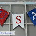 USA Glitter Banner