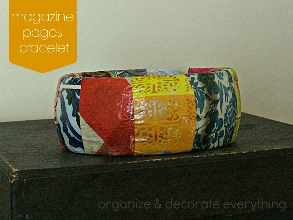 magazine pages bracelet 9.1