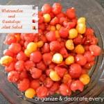 Watermelon and Cantalope Mint Salad