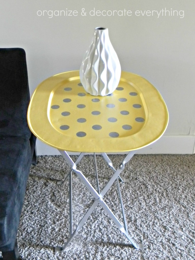 yellow polka dot tray table 10.1