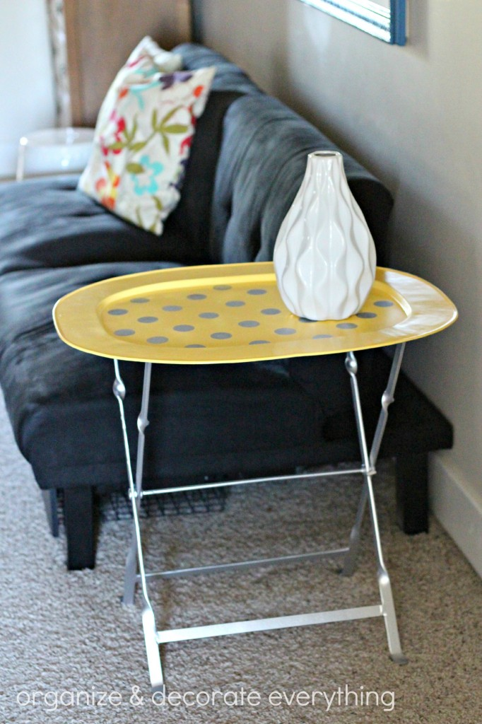 yellow polka dot tray table 13.1