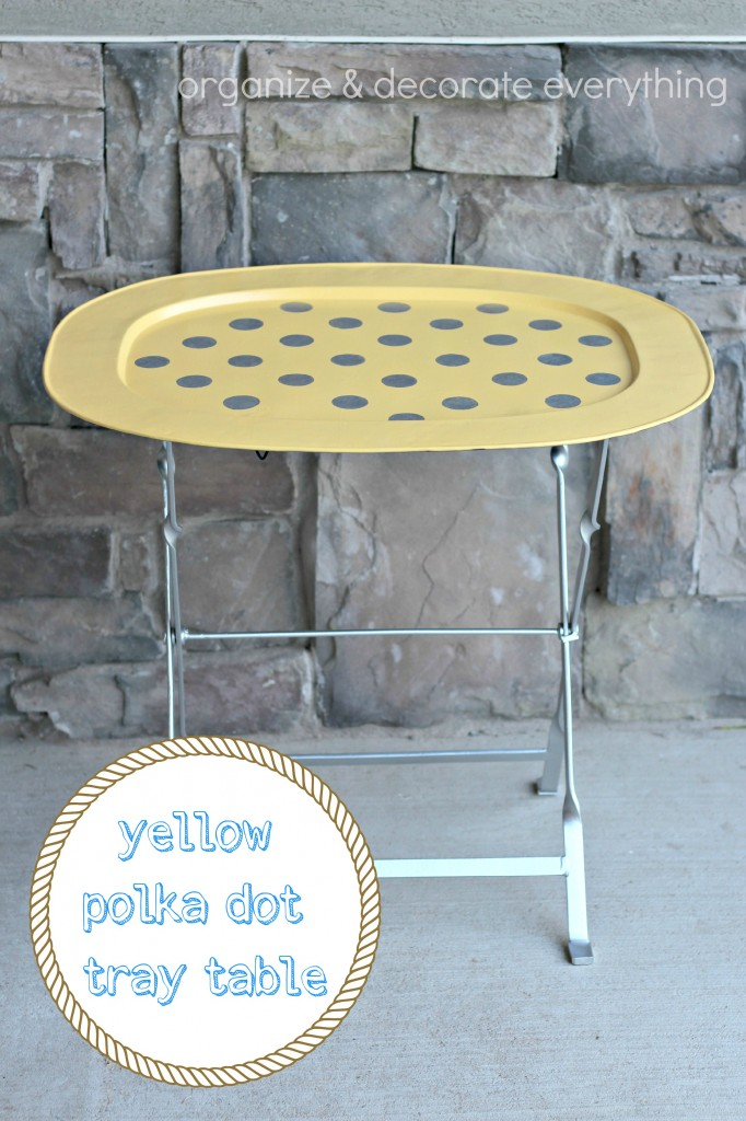 yellow polka dot tray table.1