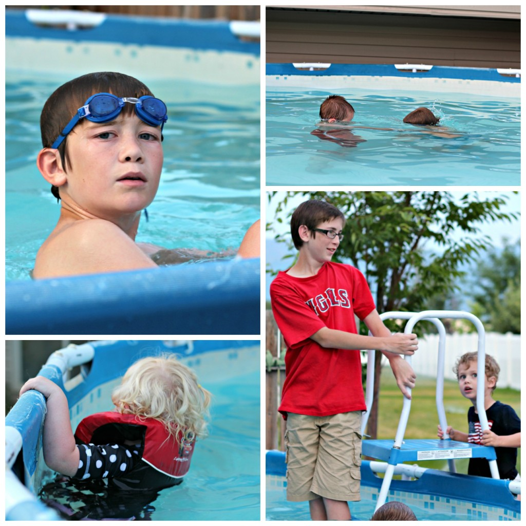 4th of July Swimming collage 2