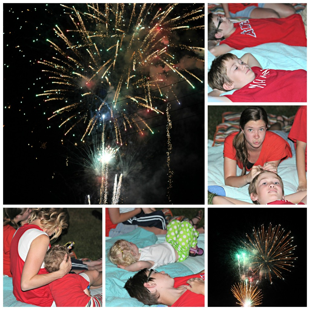 4th of July fireworks collage