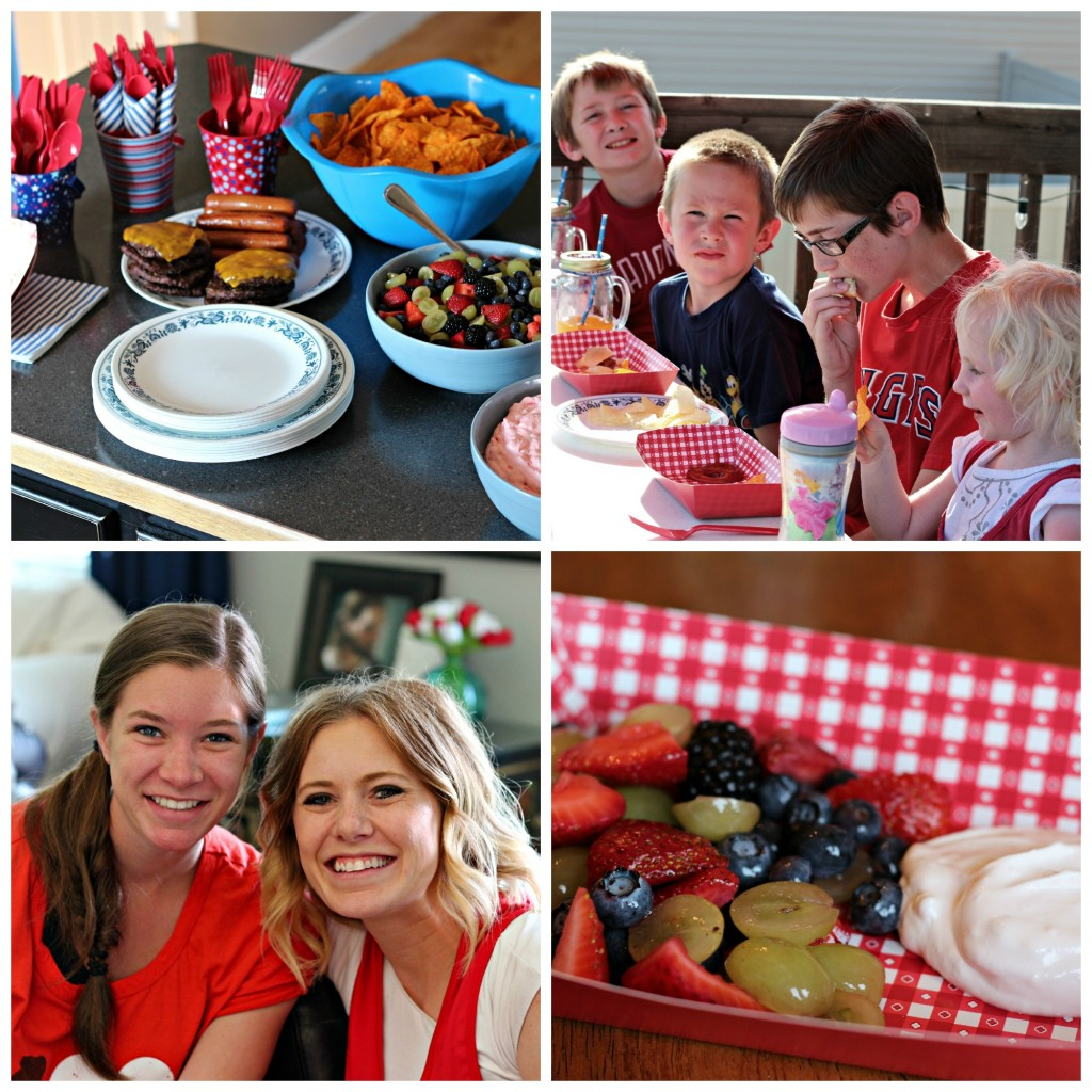 4th of July food collage