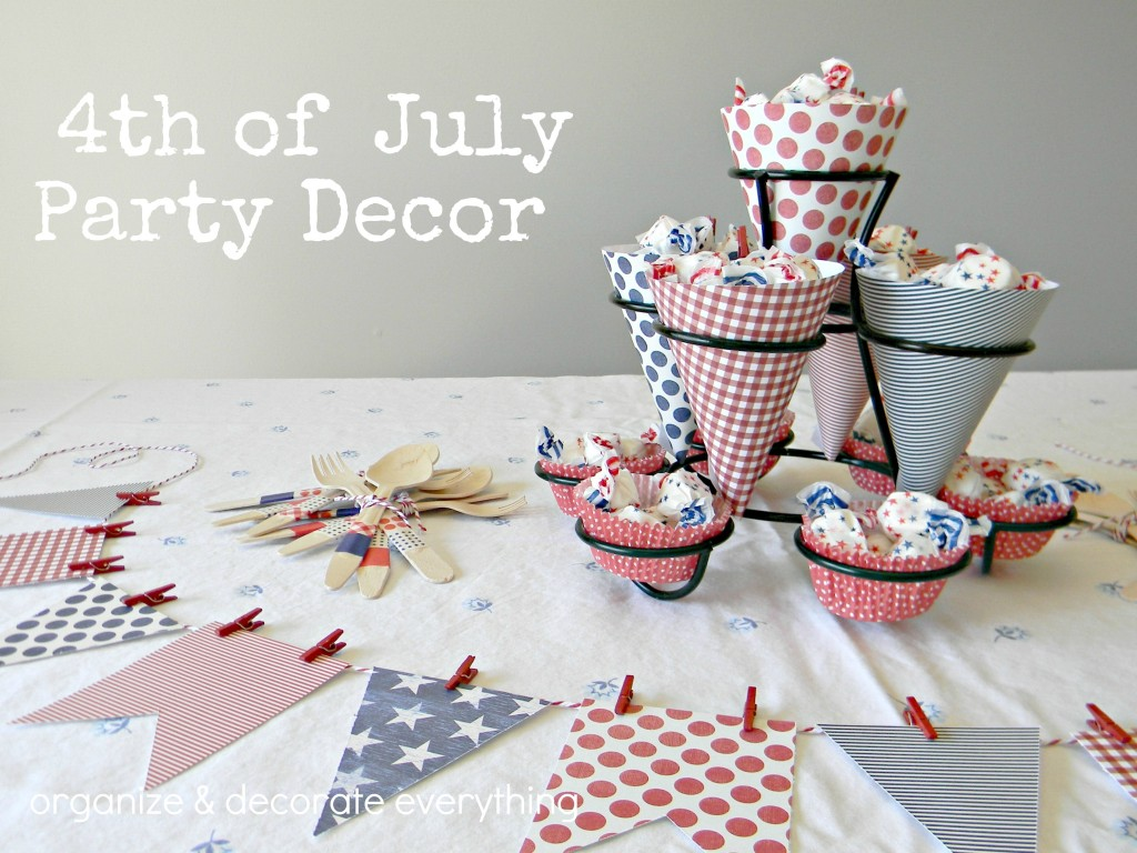 4th of July party decor 1 text