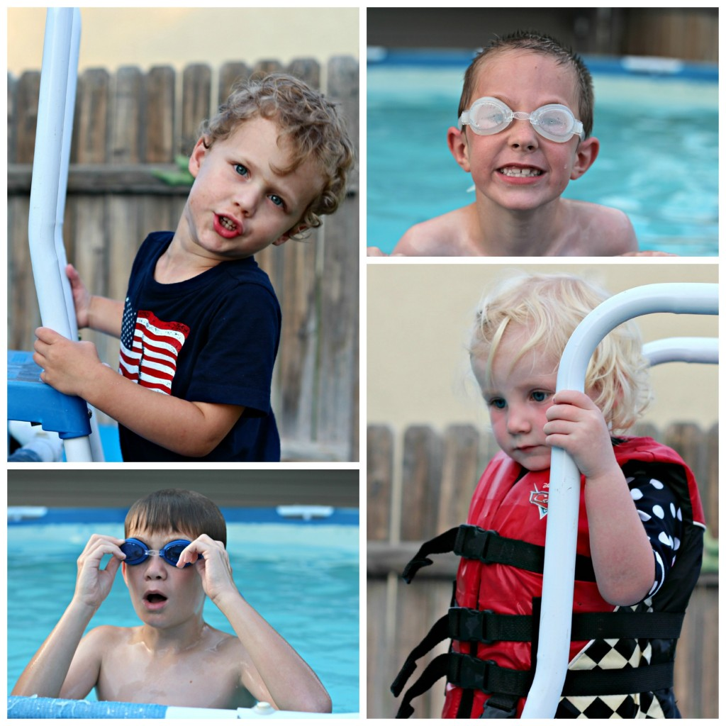 4th of July swimming collage