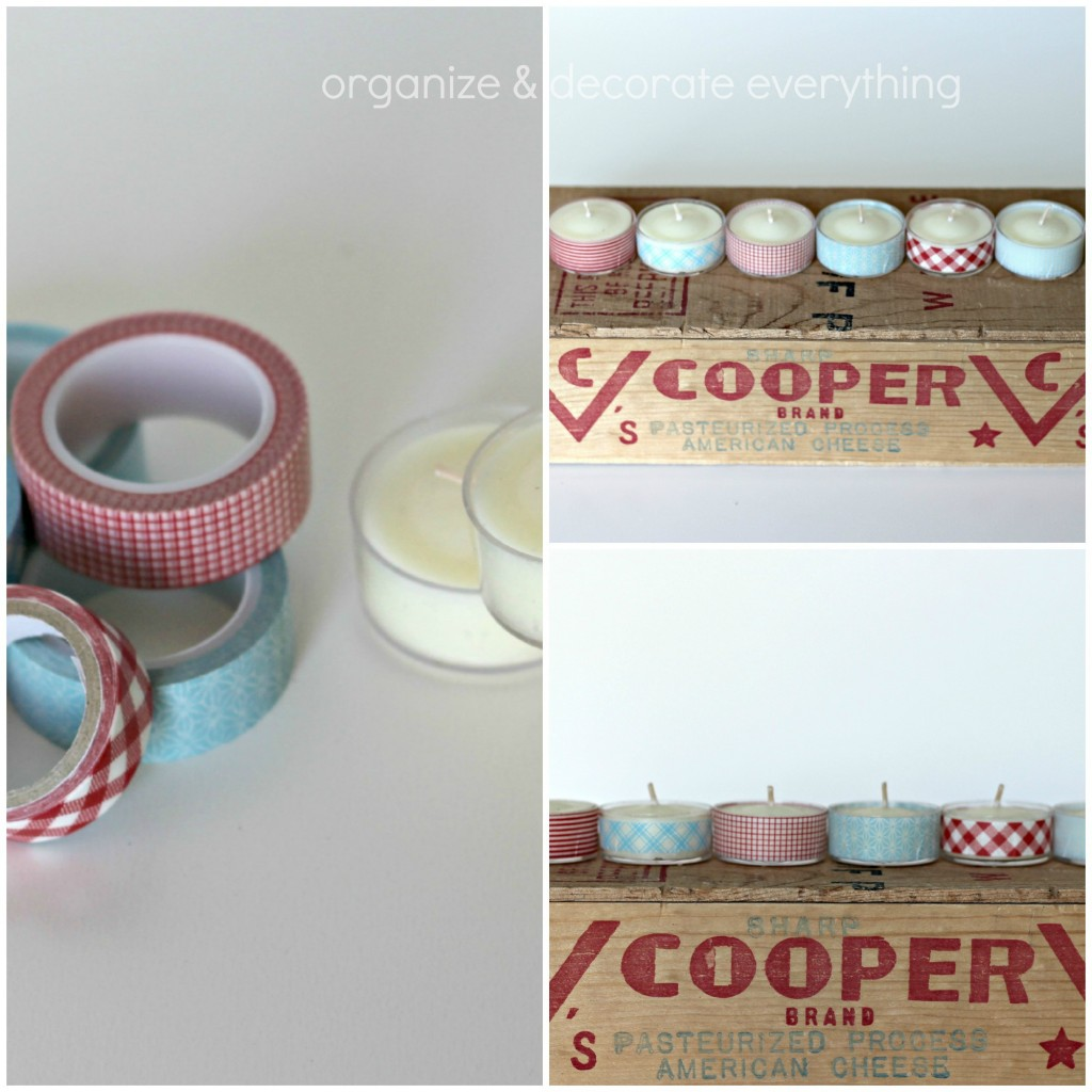 4th of July washi tape tea lights.1