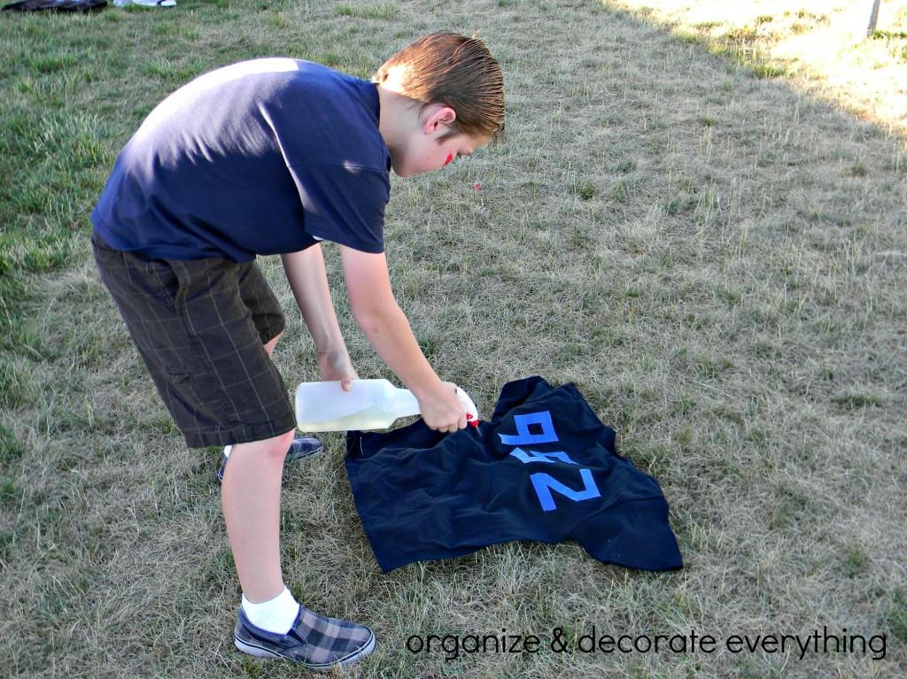 Bleach Sprayed Shirts 10.1