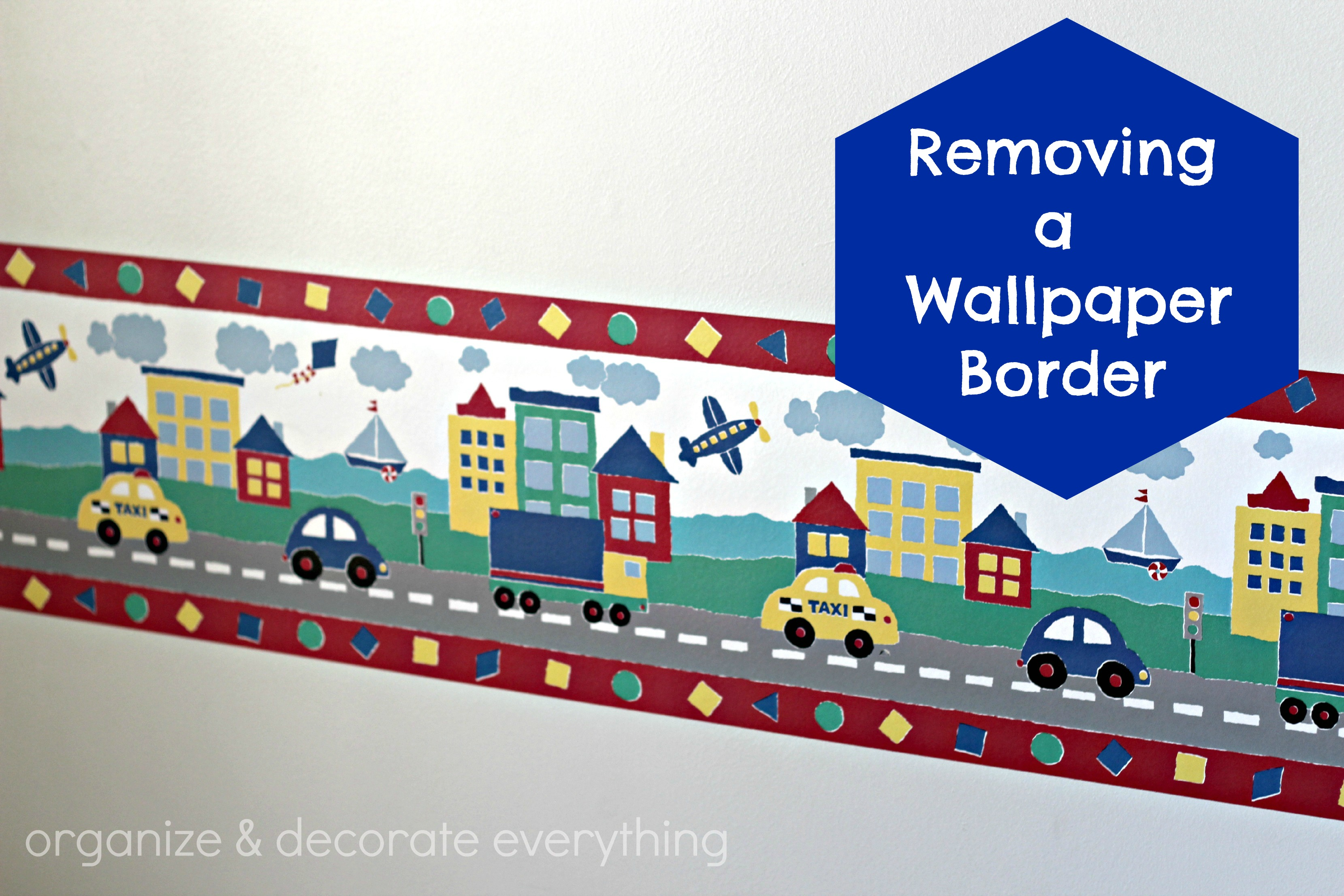 Removing A Wallpaper Border Organize And Decorate Everything