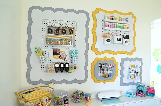 peg board organizational-craft-office-wall-at-Tatertots-and-Jello