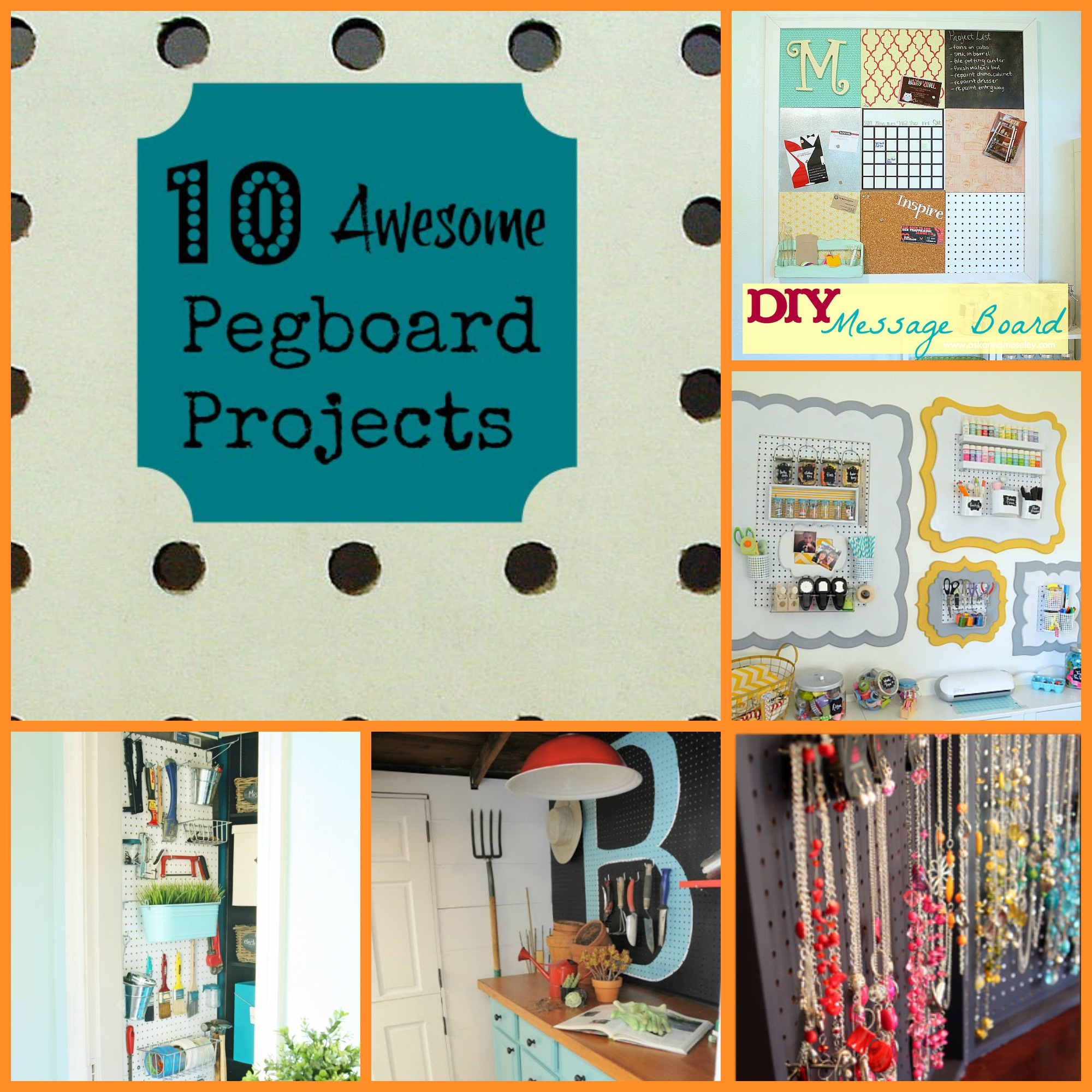 10 Awesome Pegboard Projects - Organize and Decorate Everything