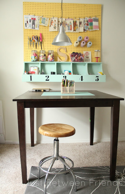 pegboard - craft room