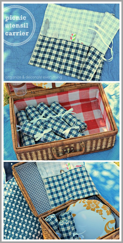 picnic utensil carrier is perfect for the picnic basket and  impromptu picnics