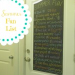 Chalkboard Door Summer Fun List