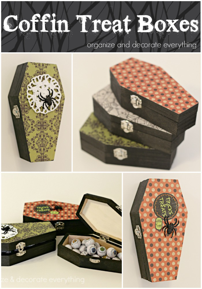 Coffin Treat Boxes for a sweet Halloween surprise