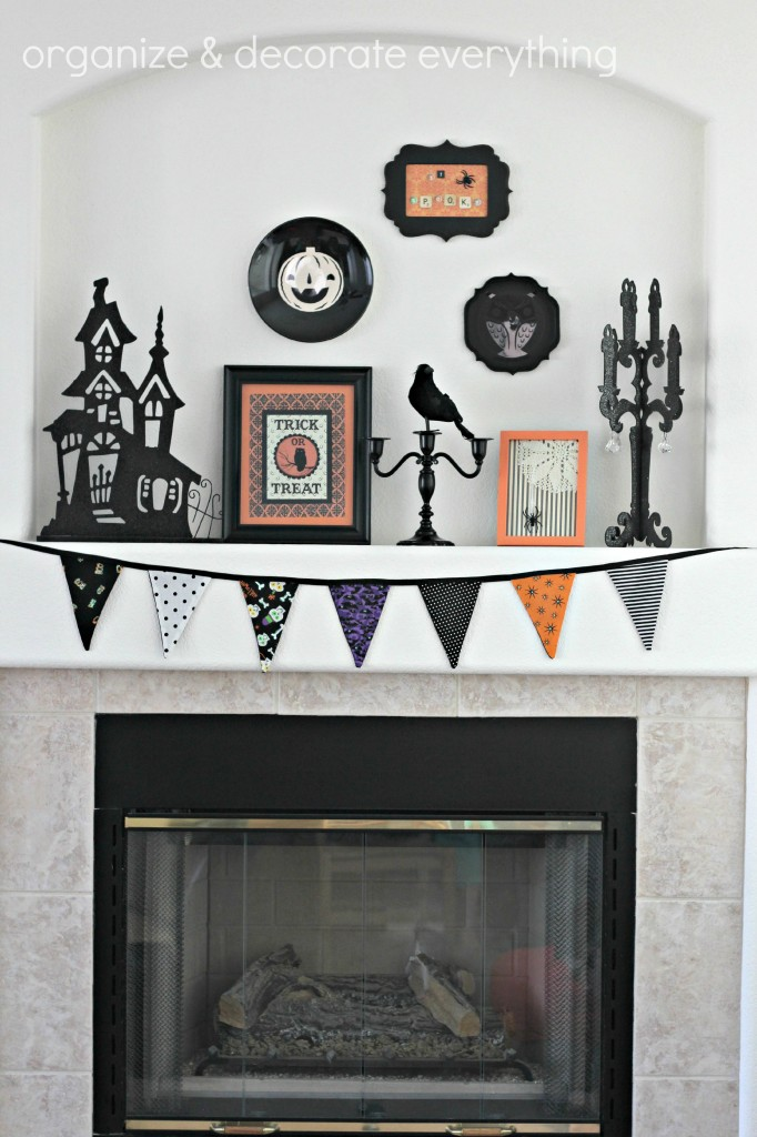 Orange & Black Halloween Mantel 2.1
