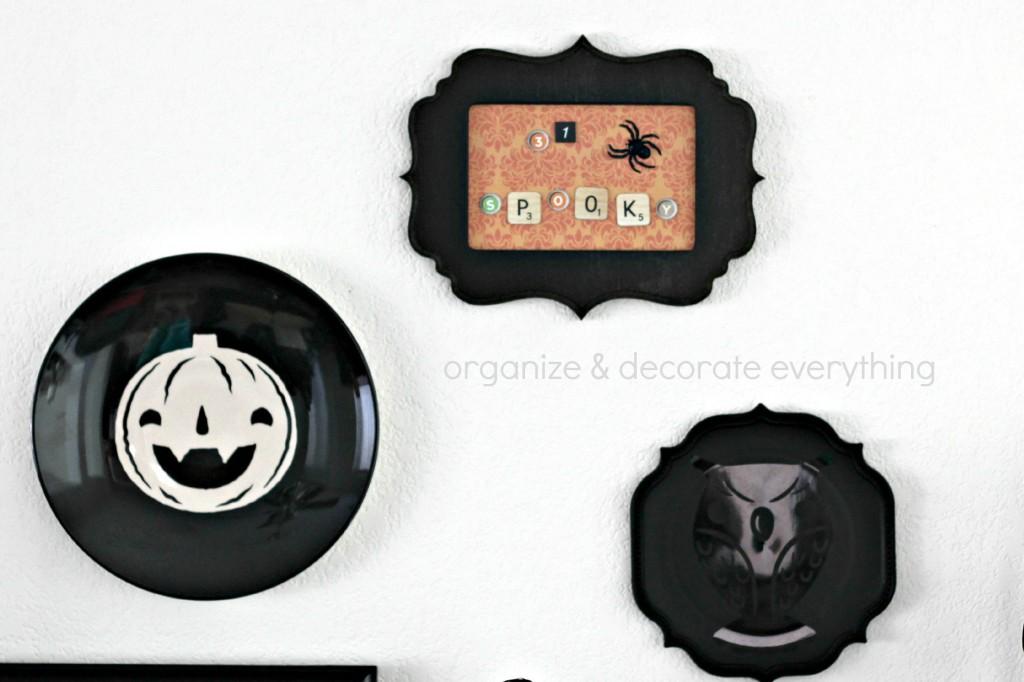 Orange & Black Halloween Mantel 4.1
