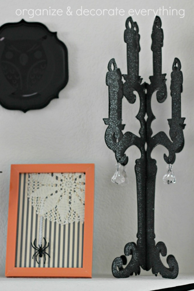 Orange & Black Halloween Mantel 7.1