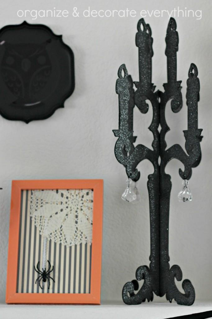 Orange & Black Halloween Mantel 7.1