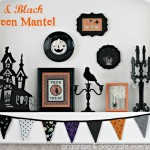Orange & Black Halloween Mantel