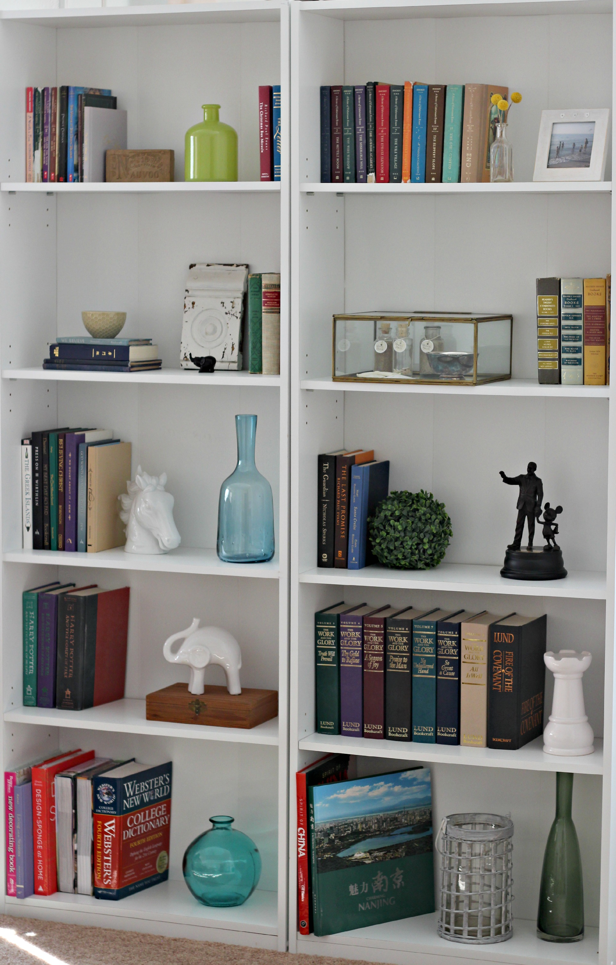 the best part of styling a bookcase is that you