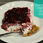 Raspberry Pretzel Jello Salad (gluten free)