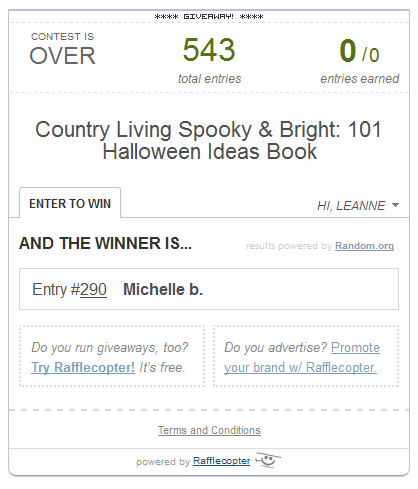spooky and bright winner