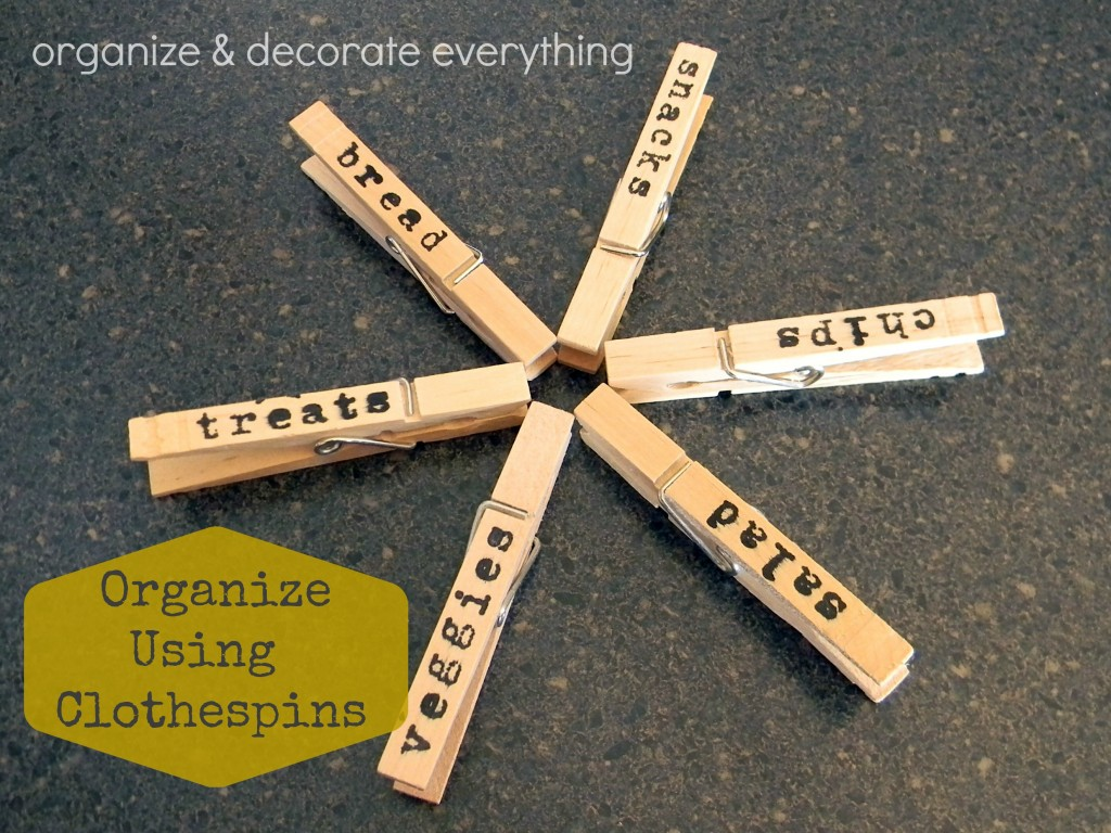 Organize using Clothspins