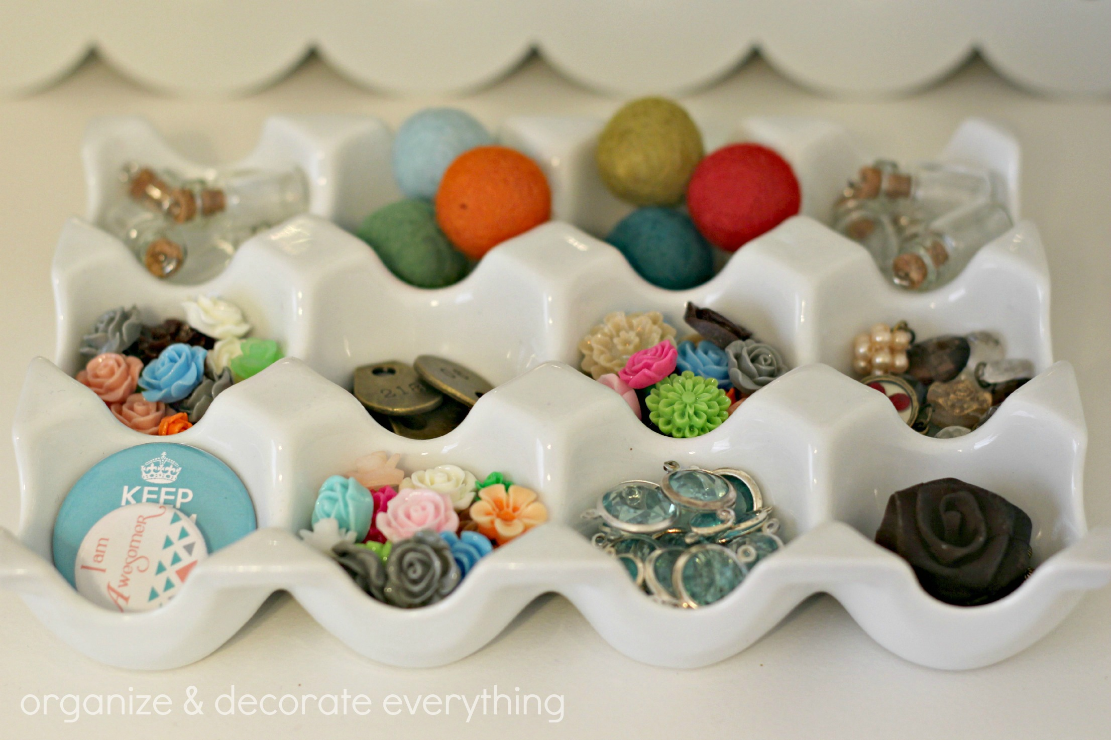 31 days of getting organized using what you have day 8 for Egg carton room