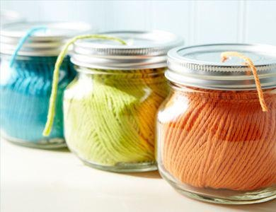 jars with string