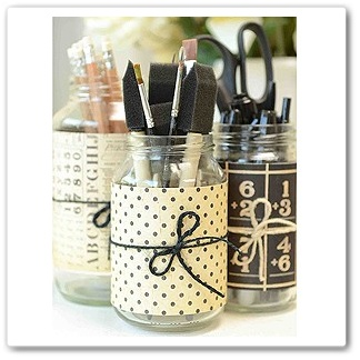 paper covered jars