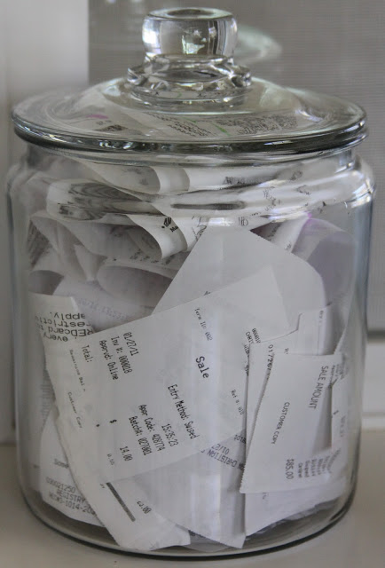 receipts jar