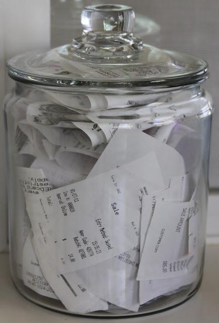 receipts jar