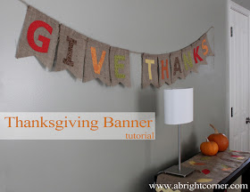 2 Cute Thanksgiving Banner using burlap