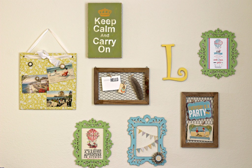 Craft room collage