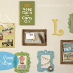 Craft Room Wall Collage