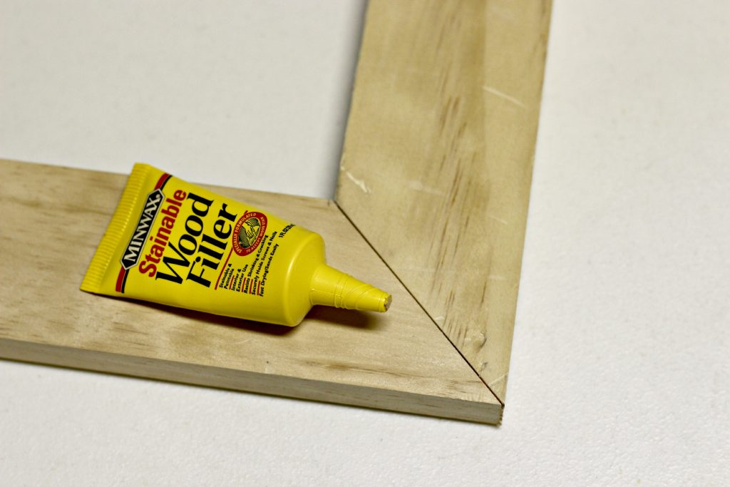 DIY Wood Frame wood filler