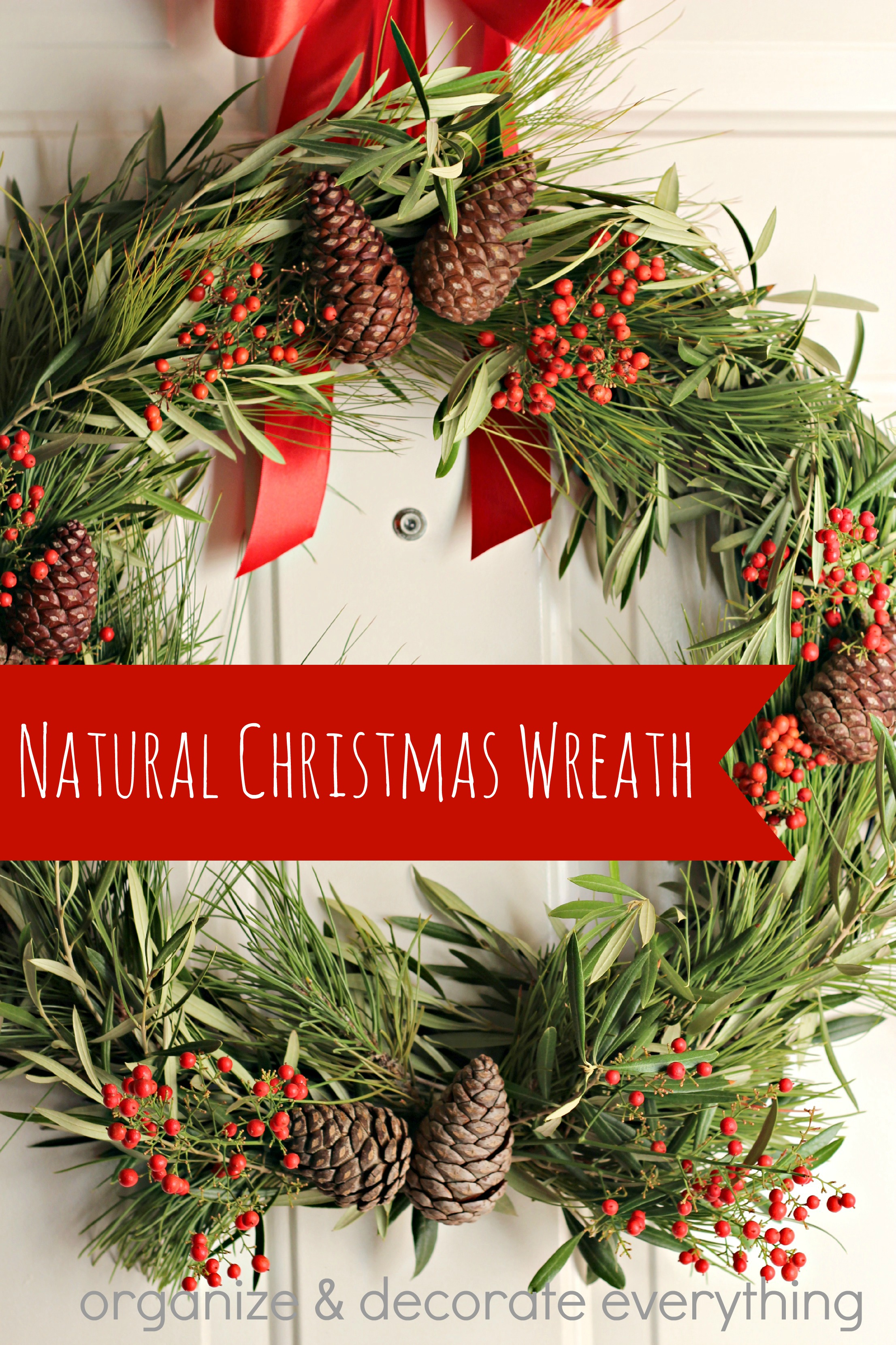 Natural Wreaths Decorating Natural Christmas Wreaths