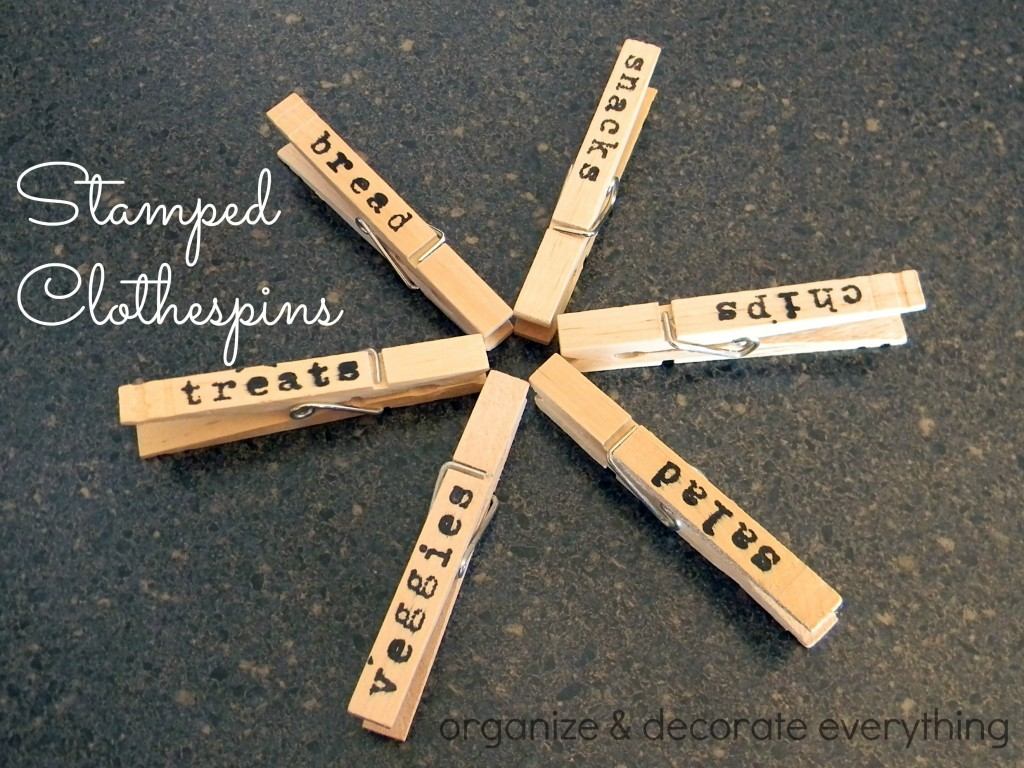 Stamped Clothespins