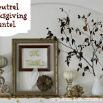 Neutral Thanksgiving Mantel
