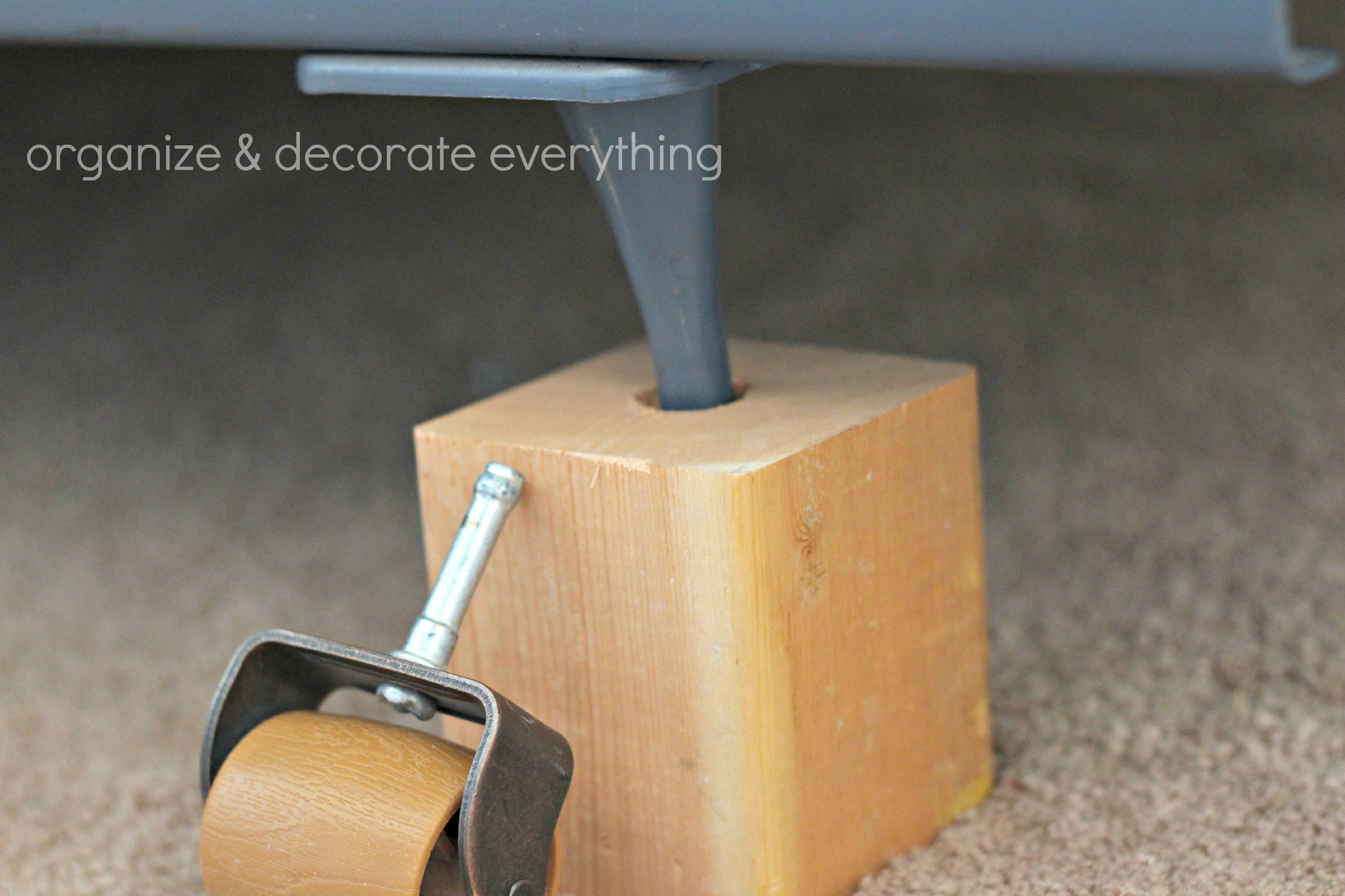 DIY Bed Risers Organize and Decorate Everything