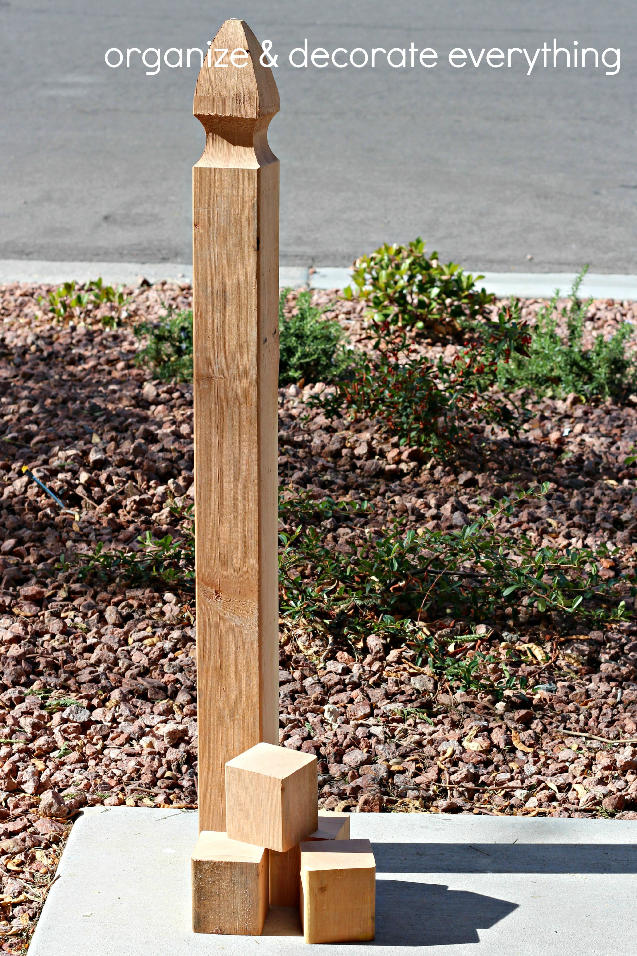 Make your own bed risers - I Started With This Fence Post From Home Depot It Was My Lucky Day It Was On Sale For A Whole 1 I Wish I Needed More Of Them For Something