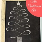 Christmas Tree Chalk Board Art