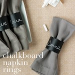 Chalkboard Napkin Rings – Party Contributor