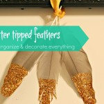 Glitter Tipped Feathers