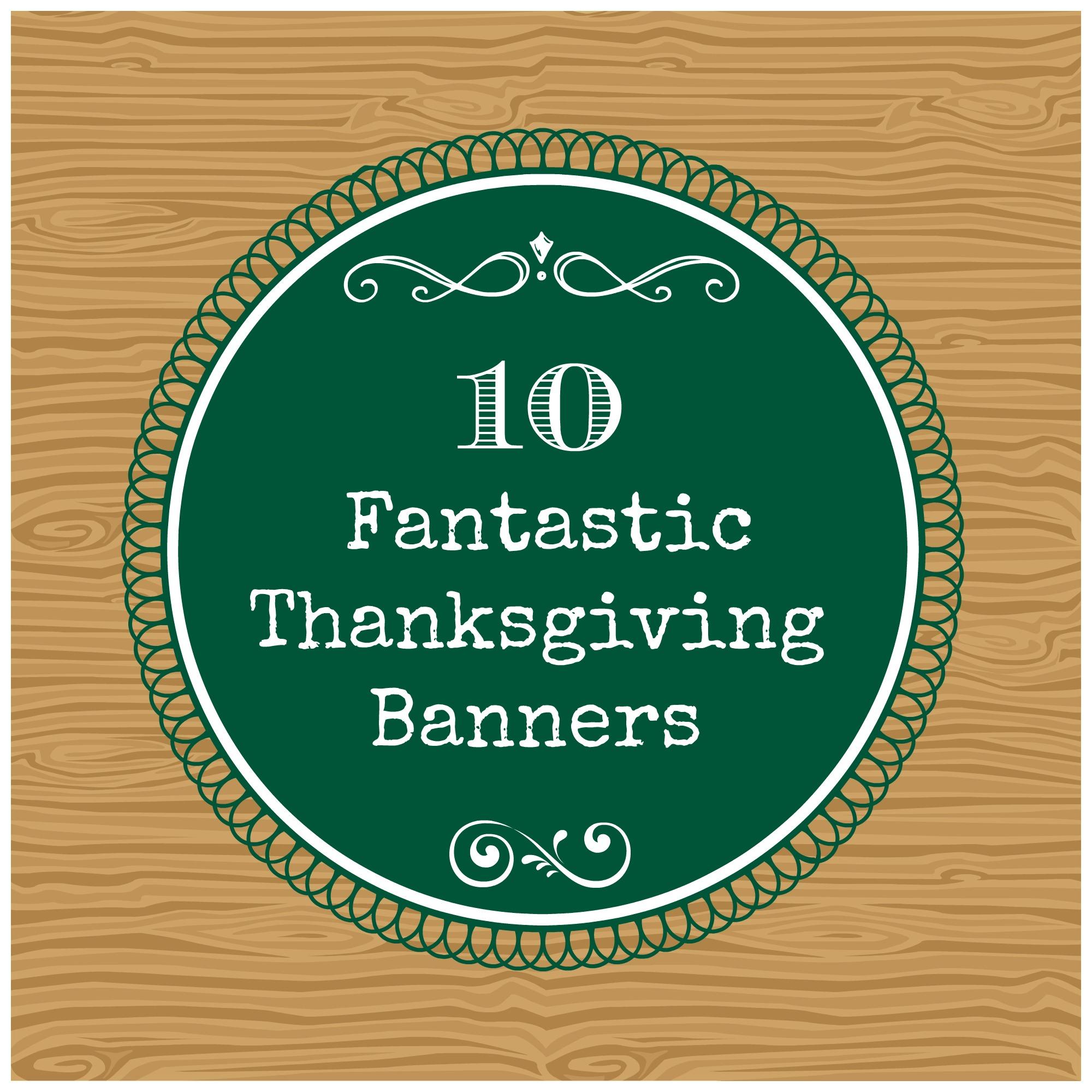 Thanksgiving Banner Thanksgiving banners
